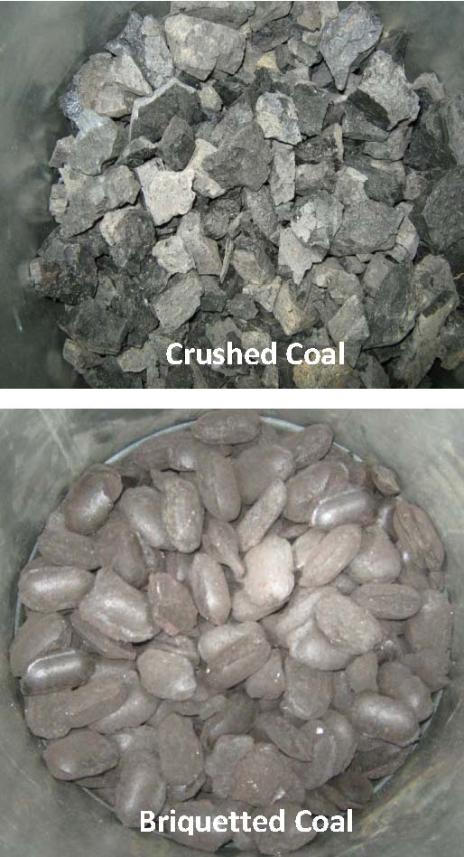 Crushed and Briquetted Coal