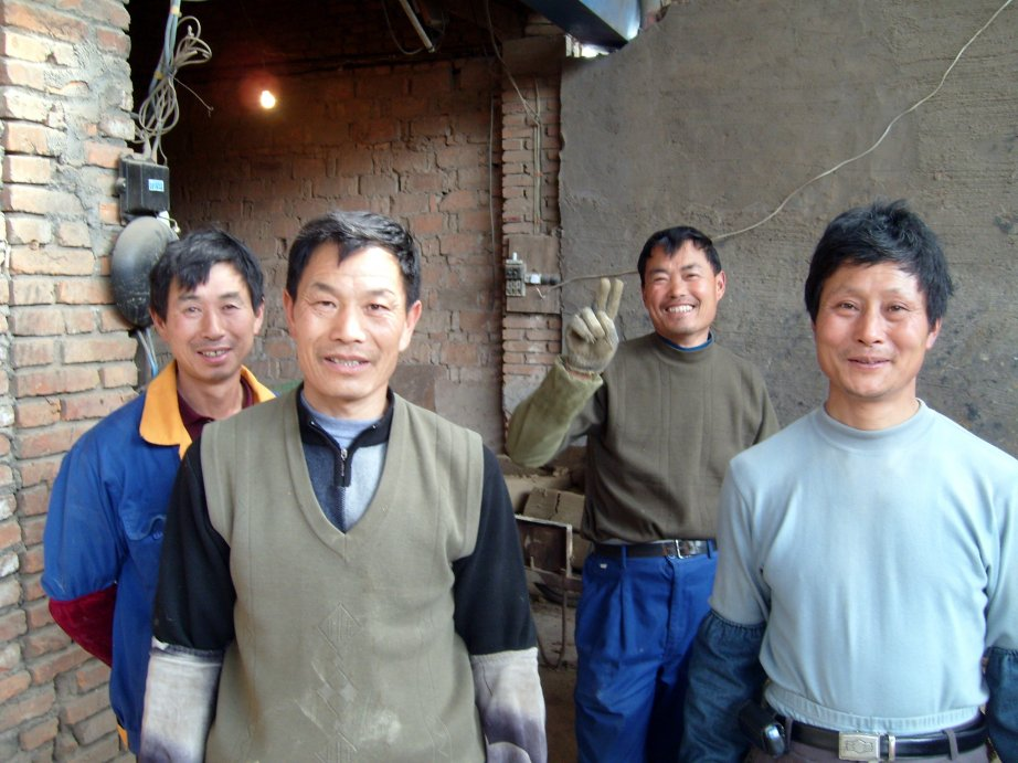 Workers at Shengzhou