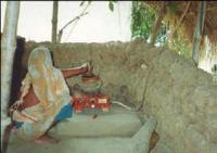 Woman Cooking With Biogas