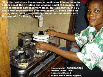 User Feedback - Clean Cook Stove